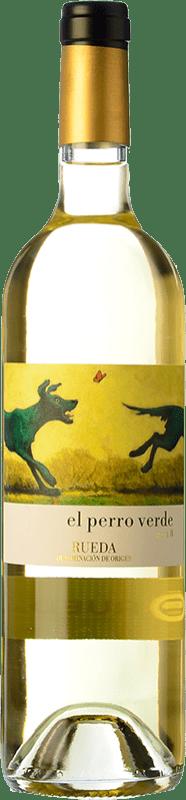 13,95 € Free Shipping | White wine Uvas Felices El Perro Verde D.O. Rueda Castilla y León Spain Verdejo Jéroboam Bottle-Double Magnum 3 L