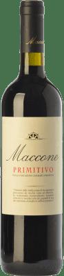 16,95 € Kostenloser Versand | Rotwein Angiuli Maccone I.G.T. Puglia Apulien Italien Primitivo Flasche 75 cl