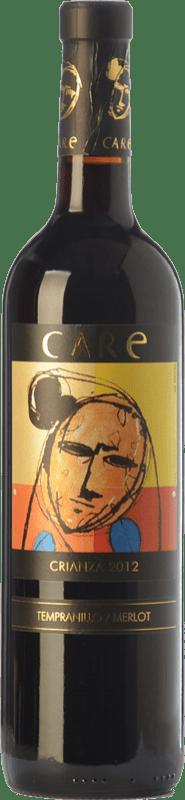 7,95 € Free Shipping | Red wine Añadas Care Crianza D.O. Cariñena Aragon Spain Merlot, Syrah Bottle 75 cl