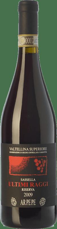 79,95 € Envoi gratuit | Vin rouge Ar.Pe.Pe. Sassella Riserva Ultimi Raggi Reserva 2009 D.O.C.G. Valtellina Superiore Lombardia Italie Nebbiolo Bouteille 75 cl