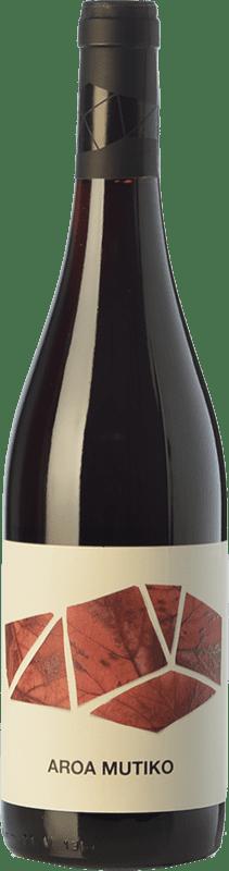 9,95 € Free Shipping | Red wine Aroa Mutiko Joven D.O. Navarra Navarre Spain Tempranillo, Merlot Bottle 75 cl