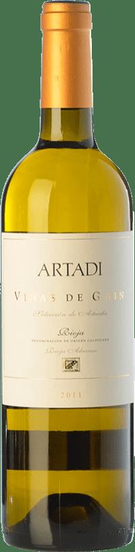 26,95 € Free Shipping | White wine Artadi Viñas de Gain Crianza D.O.Ca. Rioja The Rioja Spain Viura Bottle 75 cl