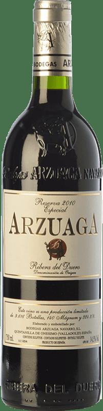 67,95 € Envío gratis | Vino tinto Arzuaga Especial Reserva D.O. Ribera del Duero Castilla y León España Tempranillo Botella 75 cl