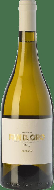 13,95 € Envío gratis | Vino blanco Arzuaga Fan D.Oro Crianza D.O. Ribera del Duero Castilla y León España Chardonnay Botella 75 cl