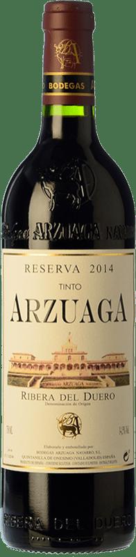 36,95 € Spedizione Gratuita | Vino rosso Arzuaga Reserva 2011 D.O. Ribera del Duero Castilla y León Spagna Tempranillo, Cabernet Sauvignon Bottiglia 75 cl