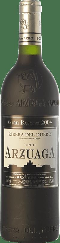 79,95 € Spedizione Gratuita | Vino rosso Arzuaga Gran Reserva 2004 D.O. Ribera del Duero Castilla y León Spagna Tempranillo, Merlot, Cabernet Sauvignon Bottiglia 75 cl