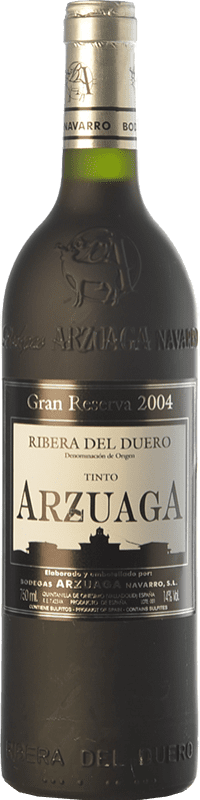 79,95 € Envío gratis | Vino tinto Arzuaga Gran Reserva 2004 D.O. Ribera del Duero Castilla y León España Tempranillo, Merlot, Cabernet Sauvignon Botella 75 cl