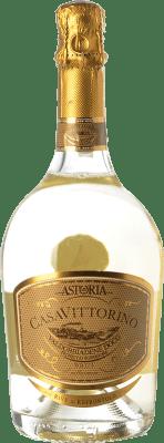 22,95 € Envoi gratuit | Blanc moussant Astoria Casa di Vittorino Brut D.O.C.G. Prosecco di Conegliano-Valdobbiadene Trévise Italie Glera Bouteille 75 cl