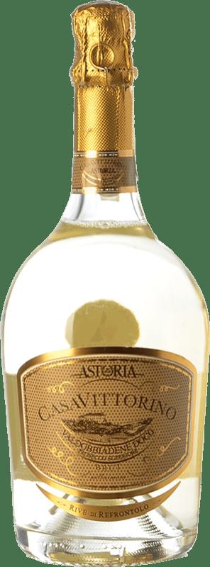 16,95 € Free Shipping | White sparkling Astoria Casa di Vittorino Brut D.O.C.G. Prosecco di Conegliano-Valdobbiadene Treviso Italy Glera Bottle 75 cl
