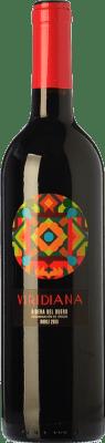 7,95 € Free Shipping | Red wine Atalayas de Golbán Viridiana Joven D.O. Ribera del Duero Castilla y León Spain Tempranillo Bottle 75 cl