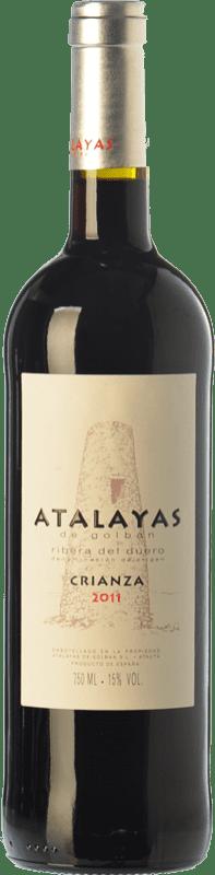 14,95 € Free Shipping | Red wine Atalayas de Golbán Crianza D.O. Ribera del Duero Castilla y León Spain Tempranillo Bottle 75 cl