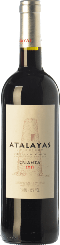 14,95 € Envoi gratuit | Vin rouge Atalayas de Golbán Crianza D.O. Ribera del Duero Castille et Leon Espagne Tempranillo Bouteille 75 cl