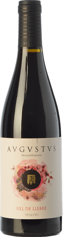 12,95 € Free Shipping | Red wine Augustus Microvinificacions Ull de Llebre Joven D.O. Penedès Catalonia Spain Tempranillo Bottle 75 cl