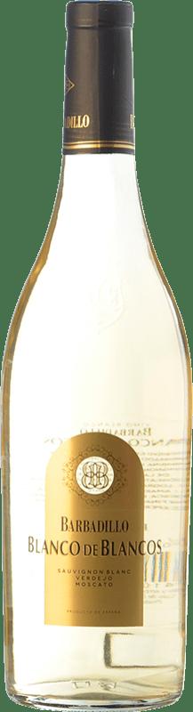9,95 € Envío gratis   Vino blanco Barbadillo Blanco de Blancos España Moscatel, Verdejo, Sauvignon Blanca Botella 75 cl