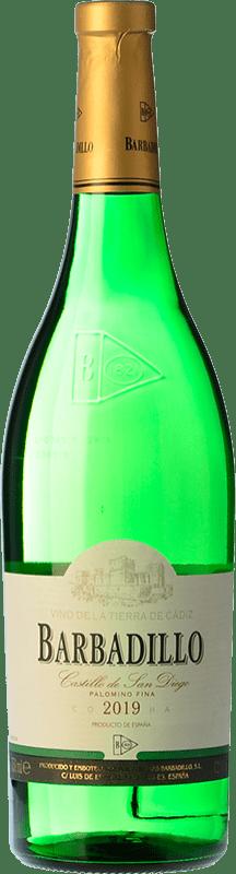 4,95 € Envoi gratuit   Vin blanc Barbadillo Castillo de San Diego Joven I.G.P. Vino de la Tierra de Cádiz Andalousie Espagne Palomino Fino Bouteille 75 cl