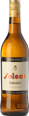 6,95 € Free Shipping | Fortified wine Barbadillo Solear D.O. Manzanilla-Sanlúcar de Barrameda Andalusia Spain Palomino Fino Bottle 75 cl | Thousands of wine lovers trust us to get the best price guarantee, free shipping always and hassle-free shopping and returns.