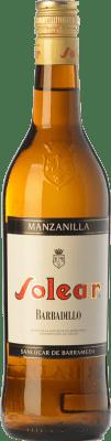 9,95 € Envio grátis | Vinho fortificado Barbadillo Solear D.O. Manzanilla-Sanlúcar de Barrameda Andaluzia Espanha Palomino Fino Garrafa 75 cl