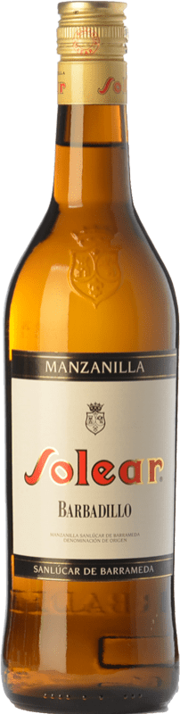 7,95 € Free Shipping | Fortified wine Barbadillo Solear D.O. Manzanilla-Sanlúcar de Barrameda Andalusia Spain Palomino Fino Bottle 75 cl