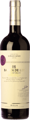 15,95 € Free Shipping | Red wine Barón de Ley Varietales Joven D.O.Ca. Rioja The Rioja Spain Graciano Bottle 75 cl