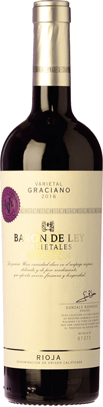 13,95 € Free Shipping | Red wine Barón de Ley Varietales Joven D.O.Ca. Rioja The Rioja Spain Graciano Bottle 75 cl