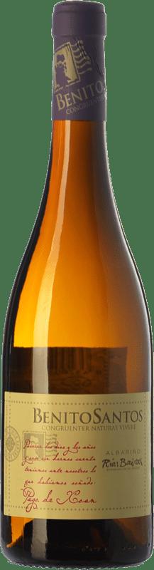 17,95 € Envio grátis | Vinho branco Benito Santos Pago de Xoan D.O. Rías Baixas Galiza Espanha Albariño Garrafa 75 cl
