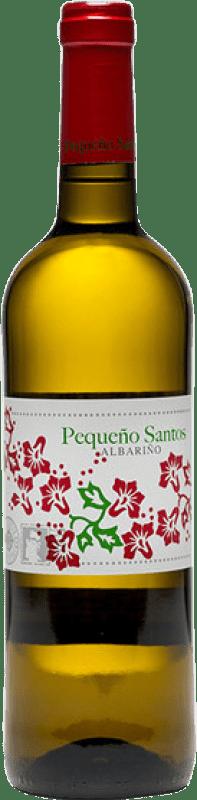 9,95 € Envio grátis | Vinho branco Benito Santos Pequeño Santos D.O. Rías Baixas Galiza Espanha Albariño Garrafa 75 cl