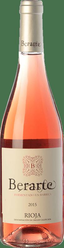 11,95 € Free Shipping | Rosé wine Berarte Fermentado en Barrica D.O.Ca. Rioja The Rioja Spain Tempranillo Bottle 75 cl