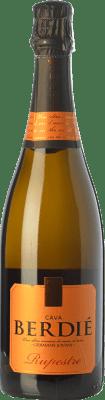 8,95 € Kostenloser Versand | Weißer Sekt Berdié Rupestre Brut Reserva D.O. Cava Katalonien Spanien Macabeo, Xarel·lo, Parellada Flasche 75 cl