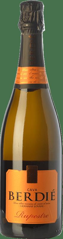 8,95 € Envío gratis | Espumoso blanco Berdié Rupestre Brut Reserva D.O. Cava Cataluña España Macabeo, Xarel·lo, Parellada Botella 75 cl