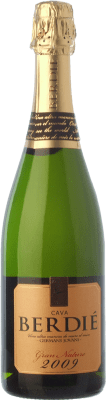 16,95 € Free Shipping | White sparkling Berdié Gran Brut Nature Gran Reserva D.O. Cava Catalonia Spain Macabeo, Xarel·lo, Parellada Bottle 75 cl