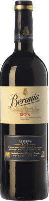 12,95 € Free Shipping | Red wine Beronia Reserva D.O.Ca. Rioja The Rioja Spain Tempranillo, Graciano, Mazuelo Bottle 75 cl | Thousands of wine lovers trust us to get the best price guarantee, free shipping always and hassle-free shopping and returns.