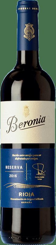 14,95 € Envío gratis | Vino tinto Beronia Reserva D.O.Ca. Rioja La Rioja España Tempranillo, Graciano, Mazuelo Botella 75 cl