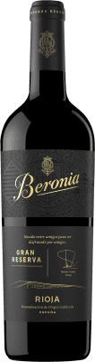 23,95 € Free Shipping | Red wine Beronia Gran Reserva 2009 D.O.Ca. Rioja The Rioja Spain Tempranillo, Graciano, Mazuelo Bottle 75 cl | Thousands of wine lovers trust us to get the best price guarantee, free shipping always and hassle-free shopping and returns.