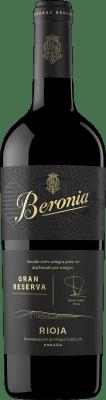 24,95 € Envío gratis | Vino tinto Beronia Gran Reserva D.O.Ca. Rioja La Rioja España Tempranillo, Graciano, Mazuelo Botella 75 cl