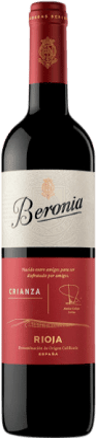 16,95 € Envío gratis | Vino tinto Beronia Crianza D.O.Ca. Rioja La Rioja España Tempranillo, Garnacha, Graciano Botella Mágnum 1,5 L