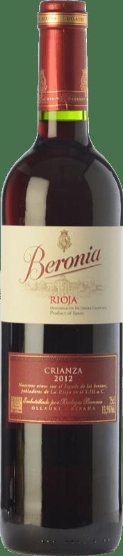16,95 € Kostenloser Versand | Rotwein Beronia Crianza D.O.Ca. Rioja La Rioja Spanien Tempranillo, Grenache, Graciano Magnum-Flasche 1,5 L