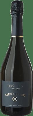 9,95 € Free Shipping | White sparkling Bertè & Cordini Pinot Nero Brut D.O.C. Oltrepò Pavese Lombardia Italy Pinot Black Bottle 75 cl