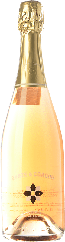 23,95 € Free Shipping | White sparkling Bertè & Cordini Cruasé D.O.C.G. Oltrepò Pavese Metodo Classico Lombardia Italy Pinot Black Bottle 75 cl