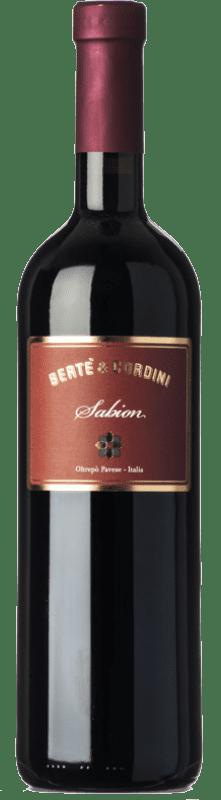 11,95 € Free Shipping | Red wine Bertè & Cordini Sabion D.O.C. Oltrepò Pavese Lombardia Italy Croatina, Rara, Ughetta Bottle 75 cl