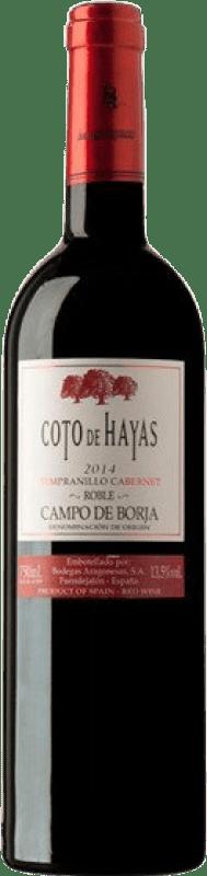 4,95 € Free Shipping | Red wine Bodegas Aragonesas Coto de Hayas Crianza D.O. Campo de Borja Aragon Spain Tempranillo, Cabernet Sauvignon Bottle 75 cl