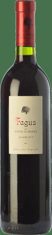 18,95 € Free Shipping | Red wine Bodegas Aragonesas Fagus de Coto de Hayas Selección Especial Crianza D.O. Campo de Borja Aragon Spain Grenache Bottle 75 cl