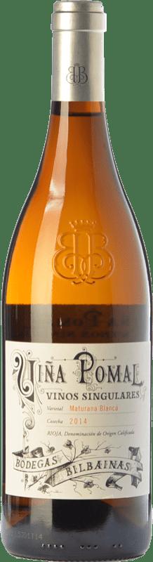 36,95 € Envoi gratuit | Vin blanc Bodegas Bilbaínas Viña Pomal Crianza D.O.Ca. Rioja La Rioja Espagne Maturana Blanc Bouteille 75 cl