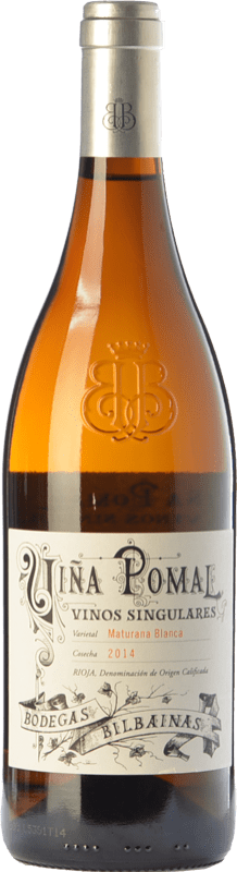 36,95 € Spedizione Gratuita | Vino bianco Bodegas Bilbaínas Viña Pomal Crianza D.O.Ca. Rioja La Rioja Spagna Maturana Bianca Bottiglia 75 cl