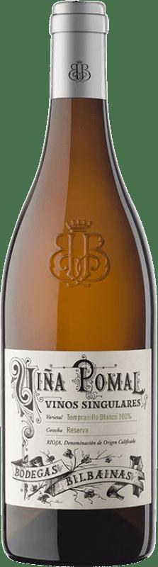 41,95 € Spedizione Gratuita | Vino bianco Bodegas Bilbaínas Viña Pomal Crianza D.O.Ca. Rioja La Rioja Spagna Tempranillo Bianco Bottiglia 75 cl