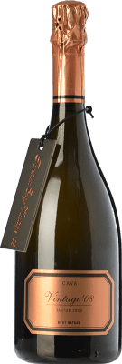 39,95 € Free Shipping | White sparkling Hispano-Suizas Tantum Ergo Vintage Gran Reserva 2011 D.O. Cava Catalonia Spain Pinot Black, Chardonnay Bottle 75 cl | Thousands of wine lovers trust us to get the best price guarantee, free shipping always and hassle-free shopping and returns.