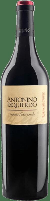 38,95 € Free Shipping | Red wine Bodegas Izquierdo Antonino Izquierdo Vendimia Seleccionada Joven D.O. Ribera del Duero Castilla y León Spain Tempranillo, Cabernet Sauvignon Bottle 75 cl