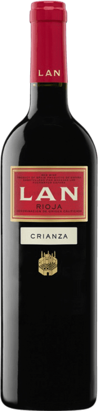 7,95 € Free Shipping | Red wine Lan Crianza D.O.Ca. Rioja The Rioja Spain Tempranillo Bottle 75 cl