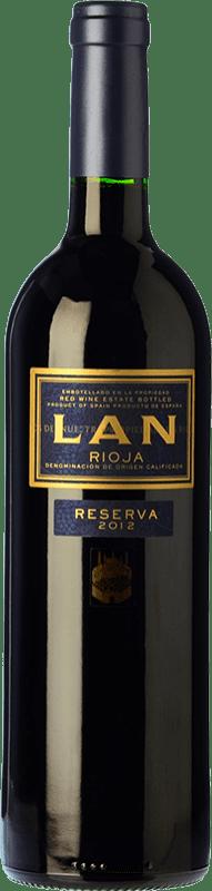 12,95 € Envío gratis | Vino tinto Lan Reserva D.O.Ca. Rioja La Rioja España Tempranillo, Graciano, Mazuelo Botella 75 cl
