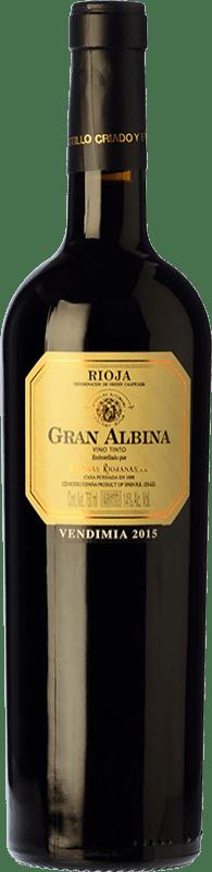 19,95 € Free Shipping | Red wine Bodegas Riojanas Gran Albina Vendimia Seleccionada Reserva D.O.Ca. Rioja The Rioja Spain Tempranillo, Graciano, Mazuelo Bottle 75 cl