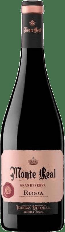 9,95 € Envío gratis | Vino tinto Bodegas Riojanas Monte Real Gran Reserva D.O.Ca. Rioja La Rioja España Tempranillo, Graciano, Mazuelo Botella 75 cl